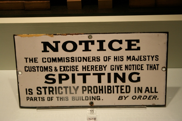 Funny sign from the Customs Office.