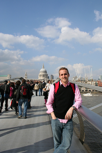 Scotty on Millennium Bridge