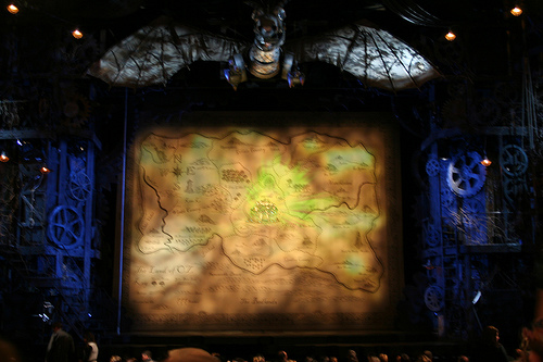 Inside the theater where we saw Wicked