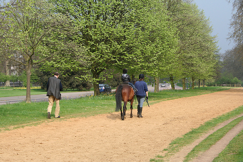 And what a great memory for this little kid...riding a horse on the old horse paths through Hyde Park on a beautiful spring day!