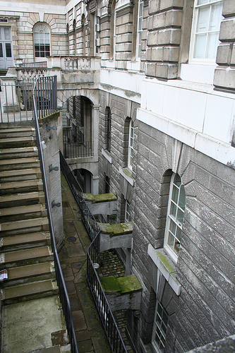 Somerset House - it's a very interesting building with several levels below the ground floor!