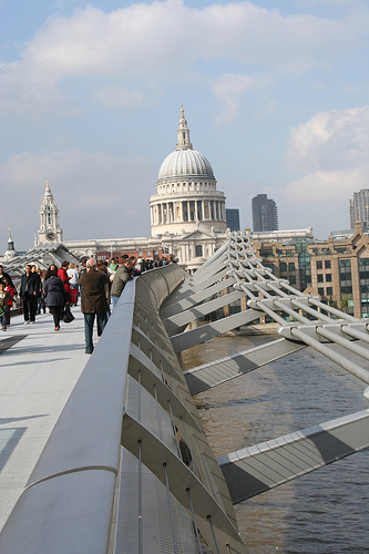 Looking back toward St. Paul's from the Millennium Bridge