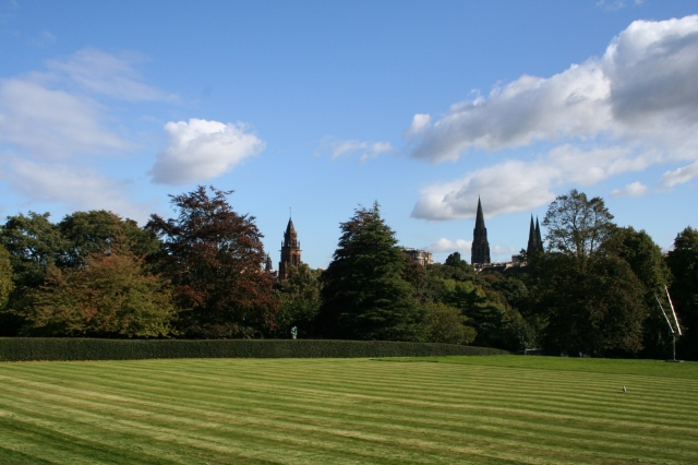 The lawn in front of the Dean.