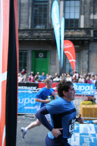 Matty approaching the finish line!