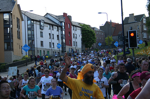 Huge race - this is how most of the race was, you can imagine what it would be like to do a 10K with 10,000 people!