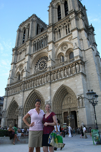 Ashli and me in front of the iconic church.