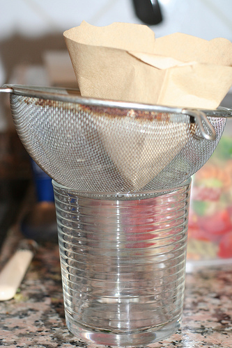 Improvised Strainer.