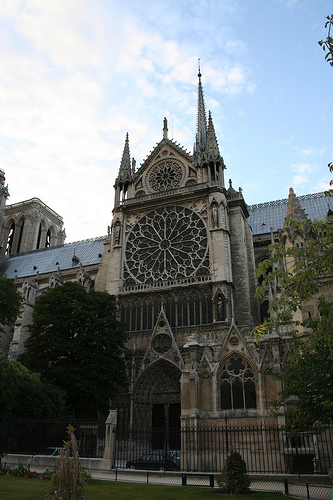 South side of Notre Dame