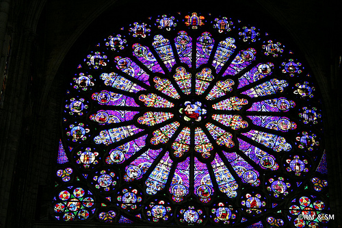 Close-up of Rose Window