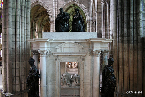 Henry II and Catharine de Medici's tomb.