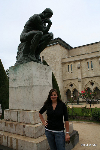 Me with the Thinker