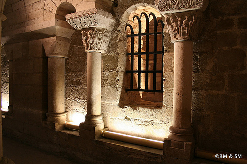 Down in the crypt.