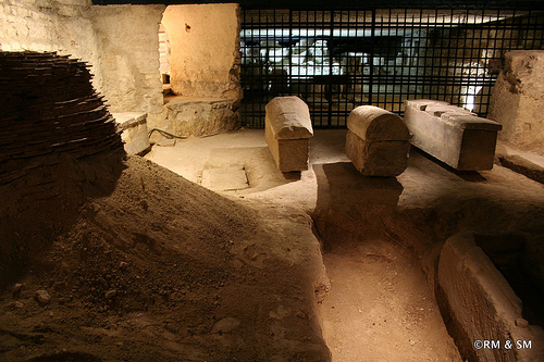 Part of the original crypt - dating back to 250!