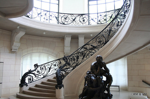 One of the gorgeous stairways inside.