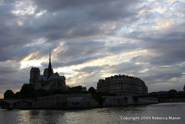 Dramatic sky over Notre Dame