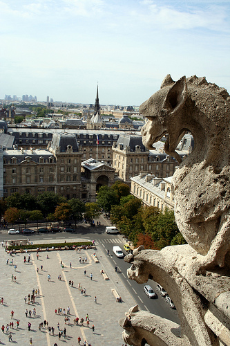 Just keeping watch over Paris, unblinking guardian.