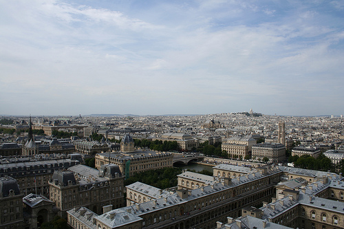 Sacre Coeur in the distance.