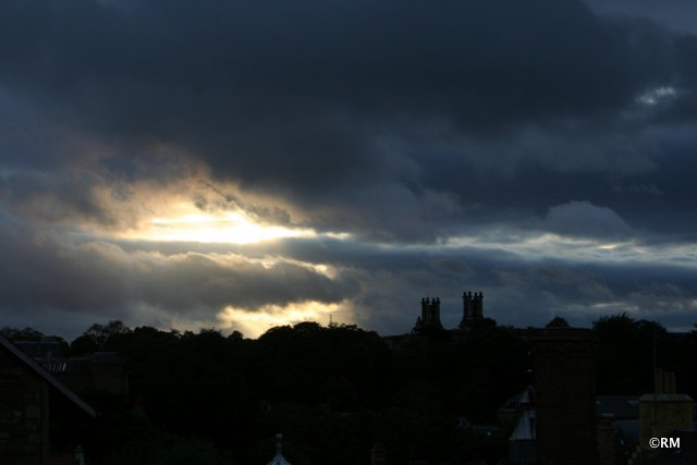 Sunset over the Dean Gallery