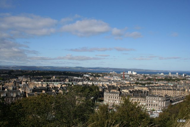 View north to Leith and the Firth of Forth