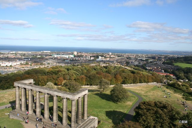 The strange Romanesque monument on Calton Hill