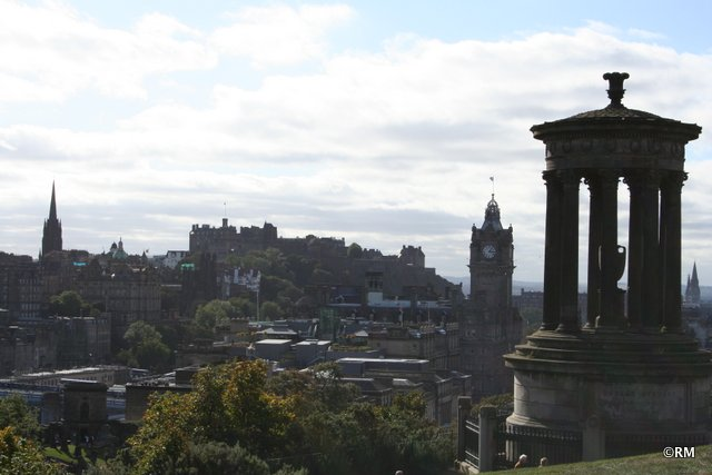 Classic view of Edinburgh from Calton Hill