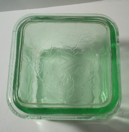 Antique Glass Storage Container